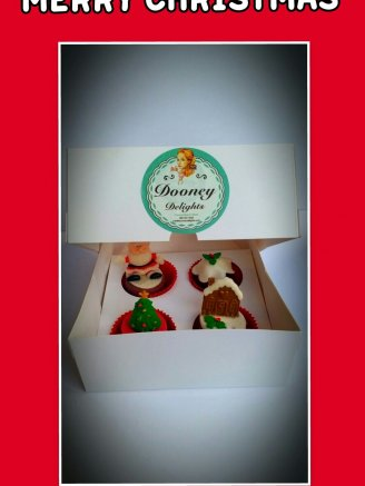 Boxed christmas cakes