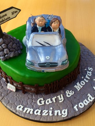 Retirement Car Cake