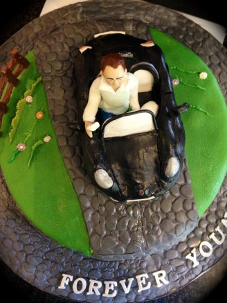 Porshe Car Celebration Cake