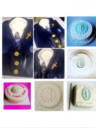 Selection of communion cakes