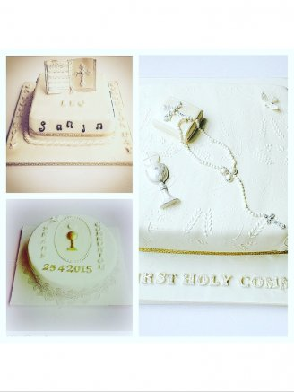 Collection of communion cakes