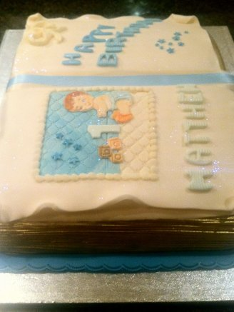 Baby Birthday Chocolate Biscuit Cake Book
