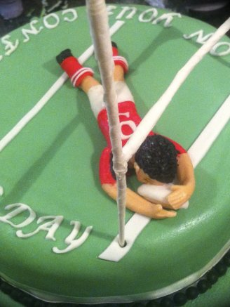 Perfect Try Rugby Cake